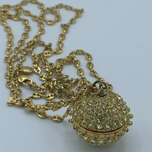 J. Crew Gold Disco Ball Long Necklace
